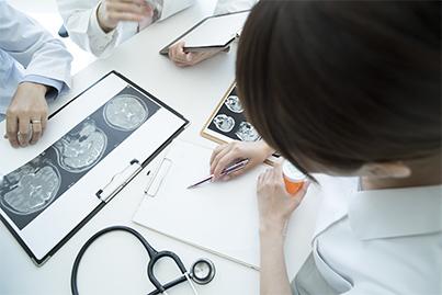 脳診断中のイメージ写真