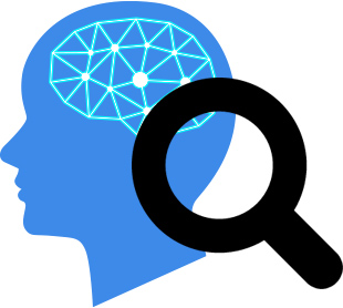 脳検査のイメージイラスト